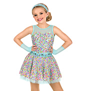 Girls Pastel Confetti Tank Dress Set