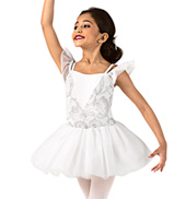 Girls Off-the-Shoulder Tutu Dress Set
