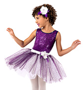 Girls Sequin Tank Tutu Dress Set