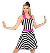 Adult Striped Halter Dress Set