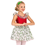 Girls Holly Print Tank Dress Set
