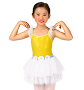 Girls Flutter Sleeve Sequin Tutu Dress Set