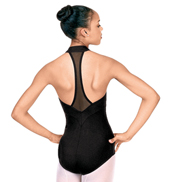 Zipper Front Halter Leotard