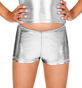 Child Metallic Dance Shorts