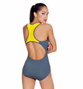 Tank Leotard With Contrast Back