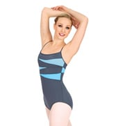 Two-Tone Splice Camisole Leotard