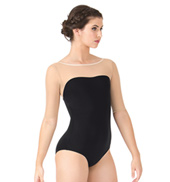 Mesh Sleeve Leotard