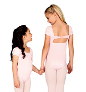 Child Short Sleeve Square Back Leotard