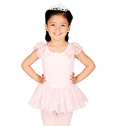 Child Flutter Sleeve Tutu Dress