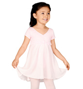 Child Short Sleeve Empire Waist Dance Dress