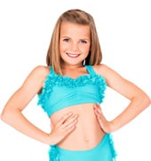 Child Lace Ruffle Bra Top
