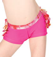 Child Metallic Print Ruffle Short