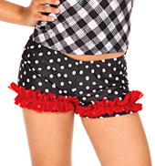 Child Polka Dot Ruffle Dance Shorts