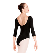 Adult 3/4 Sleeve High Cut Leotard