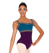 Adult 3-Tone Color Block Tank Leotard