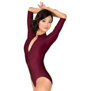 Adult 3/4 Sleeve Zip Front Leotard