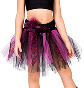 Child Zebra Tattered Tutu