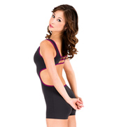 Adult 2-Tone Open Back Tank Shorty Unitard