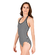 Striped Halter Leotard