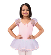 Puff Sleeve Butterfly Tutu Dress