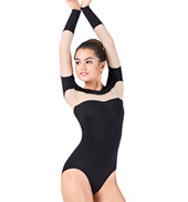 Adult Mesh Insert Long Sleeve Leotard