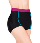 Tri Colored High Waist Dance Shorts