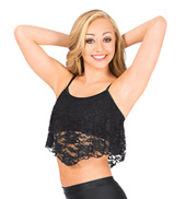 Adult Camisole Lace Overlay Bra Top
