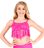 Girls Camisole Lace Overlay Bra Top