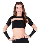 Mesh Insert Long Sleeve Crop Top