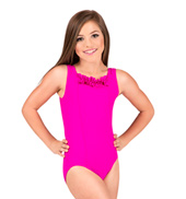 Girls Ruffle Bodice Tank Leotard