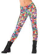 Girls International Flag Leggings