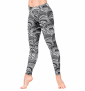 Adult Peacock Swirl Leggings