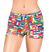 Girls International Flag Dance Shorts
