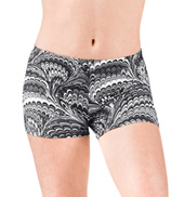 Girls Peacock Swirl Dance Shorts