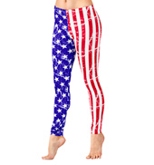 Adult American Flag Leggings