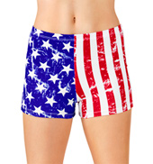 Adult American Flag Dance Shorts