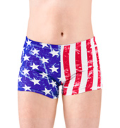 Girls American Flag Dance Shorts