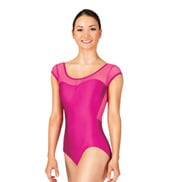 Adult Power Mesh Cap Sleeve Leotard