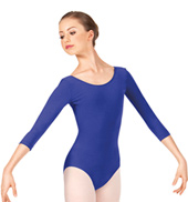 Adult Low Back 3/4 Sleeve Leotard
