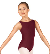 Girls Boatneck Tank Leotard