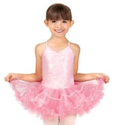 Girls Camisole Sequin Tutu Dress