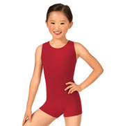 Child Keyhole Back Tank Shorty Unitard