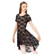 Adult Lace Cap Sleeve Dress