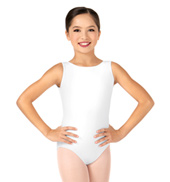 Child Deep V-Back Tank Leotard