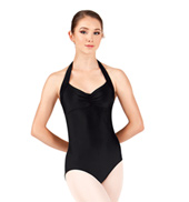 Adult Pinch Front Halter Leotard