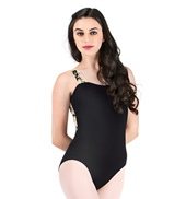 Adult Flocked Tank Leotard