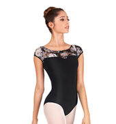 Adult Lace Sweetheart Cap Sleeve Leotard