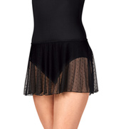 Adult Dot Mesh Pull-On Skirt