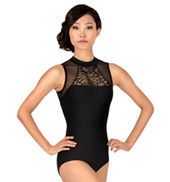 Adult Pointe DEsprit High Neck Tank Leotard