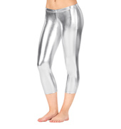 Girls Metallic Capri Leggings